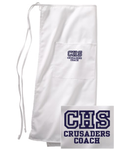 Canevin Catholic High School Crusaders Embroidered Full Bistro Bib Apron