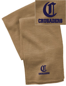 Canevin Catholic High School Crusaders  Embroidered Knitted Scarf