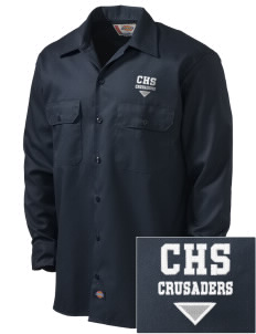 Canevin Catholic High School Crusaders Embroidered Dickies Men's Long-Sleeve Workshirt