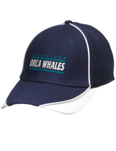 Lakeridge Elementary School Orca Whales Embroidered New Era Contrast Piped Performance Cap