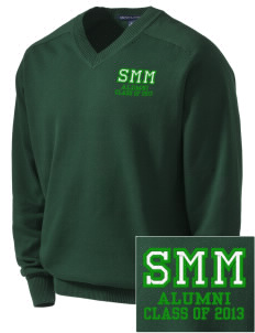 Saint Margaret Mary School Hornets Embroidered Men's V-Neck Sweater
