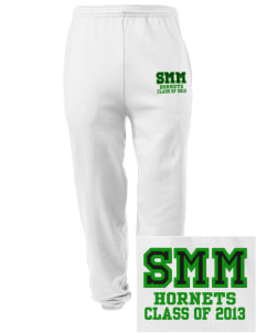 Saint Margaret Mary School Hornets Embroidered Men's Sweatpants with Pockets