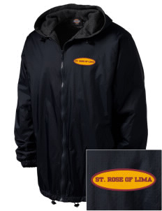 Saint Rose Of Lima School Hawks Embroidered Dickies Men's Fleece-Lined Hooded Jacket