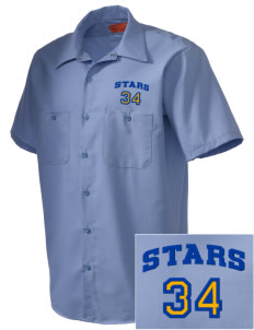 Winona Academy Stars Embroidered Men's Cornerstone Industrial Short Sleeve Work Shirt