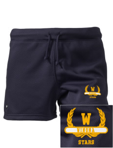 "Winona Academy Stars Embroidered Holloway Women's Balance Shorts, 3"" Inseam"