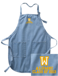 Winona Academy Stars Embroidered Full-Length Apron with Pockets