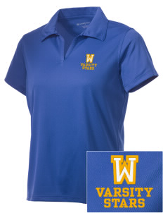 Winona Academy Stars Embroidered Women's Double Mesh Polo