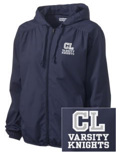 Christian Life School Knights Embroidered Women's Hooded Essential Jacket