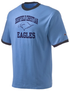 Deerfield Christian Academy Eagles Champion Men's Ringer T-Shirt