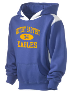 Victory Baptist Academy Eagles Kid's Pullover Hooded Sweatshirt with Contrast Color