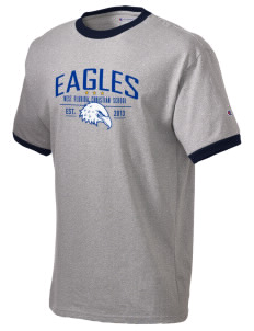 West Florida Christian School Eagles Champion Men's Ringer T-Shirt