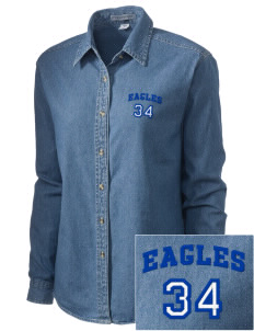 Altamonte Christian School Eagles Embroidered Women's Denim Long Sleeve