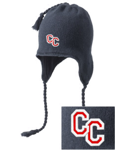 Community Christian Academy Defenders Embroidered Knit Hat with Earflaps