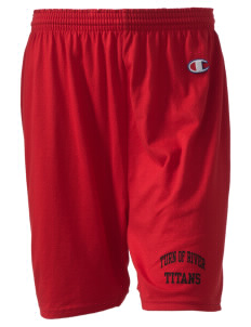 "Turn Of River Middle School Titans  Champion Women's Gym Shorts, 6"" Inseam"