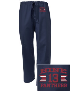 Hine Junior High School Panthers Embroidered Scrub Pants