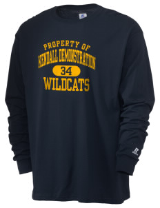 Kendall Demonstration Elementary School Wildcats  Russell Men's Long Sleeve T-Shirt
