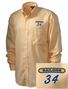 Edmonds Homeschool Resource Center Sailors  Embroidered Men's Nailhead Non-Iron Button-Down