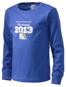 Rainier Christian Middle School Mustangs  Kid's Long Sleeve T-Shirt