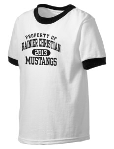 Rainier Christian Middle School Mustangs Kid's Ringer T-Shirt