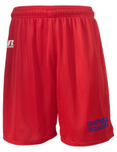 "Campbell High School Buccaneers  Russell Men's Mesh Shorts, 7"" Inseam"