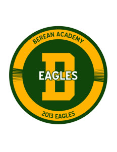 Berean Academy Eagles Sticker