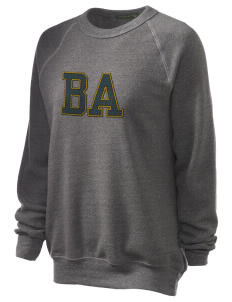 Berean Academy Eagles Unisex Alternative Eco-Fleece Raglan Sweatshirt with Distressed Applique
