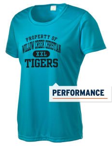 Willow Creek Christian School Tigers Women's Competitor Performance T-Shirt