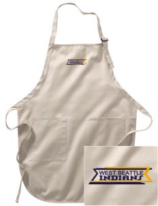 West Seattle High School Indians Embroidered Full-Length Apron with Pockets