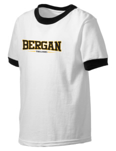 Bergan High School Trojans Kid's Ringer T-Shirt