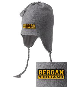 Bergan High School Trojans Embroidered Knit Hat with Earflaps