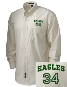 Saint John Lutheran School Eagles  Embroidered Men's Easy Care, Soil Resistant Shirt