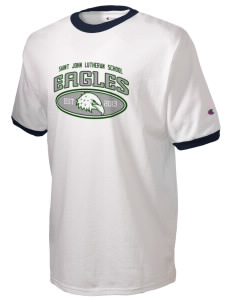 Saint John Lutheran School Eagles Champion Men's Ringer T-Shirt