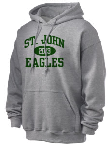 Saint John Lutheran School Eagles Ultra Blend 50/50 Hooded Sweatshirt
