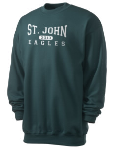 Saint John Lutheran School Eagles Men's 7.8 oz Lightweight Crewneck Sweatshirt
