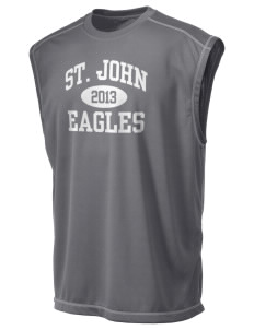 Saint John Lutheran School Eagles Champion Men's 4.1 oz Double Dry Odor Resistance Muscle T-Shirt