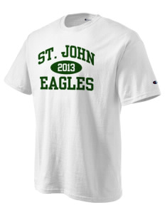 Saint John Lutheran School Eagles Champion Men's Tagless T-Shirt