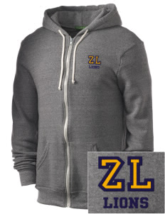 Zion Lutheran School Lions Embroidered Alternative Men's Rocky Zip Hooded Sweatshirt