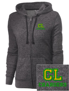 Christ Lutheran School Chargers Embroidered Women's Marled Full-Zip Hooded Sweatshirt