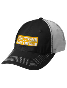 First Lutheran School Colts Embroidered Mesh Back Cap