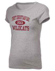 First Christian Day School Wildcats Holloway Women's Groove T-Shirt
