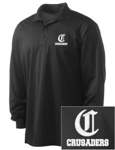 Holy Cross Crusaders Embroidered Men's Long Sleeve Micropique Sport-Wick Sport Shirt