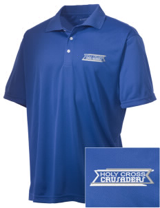 Holy Cross Crusaders Embroidered Men's Double Mesh Polo