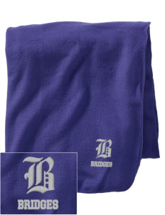 Hawthorne Academy Bridges Embroidered Holloway Stadium Fleece Blanket