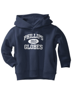 Phillips Academy Globes  Toddler Fleece Hooded Sweatshirt with Pockets