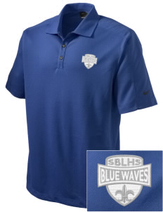 South Bay Lutheran High School Blue Waves Embroidered Nike Men's Dri-FIT Pique II Golf Polo