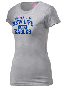 New Life Academy Eagles  Juniors' Fine Jersey Longer Length T-Shirt