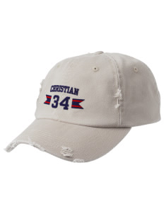Christian Senior High School Patriots Embroidered Distressed Cap