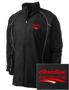 Christian Senior High School Patriots Embroidered Men's Nike Golf Full Zip Wind Jacket