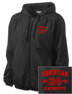 Christian Senior High School Patriots Embroidered Women's Hooded Essential Jacket