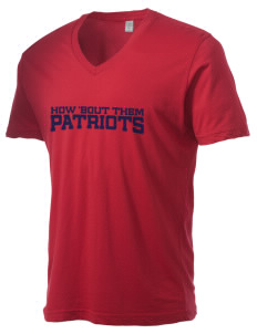 Christian Senior High School Patriots Alternative Men's 3.7 oz Basic V-Neck T-Shirt